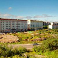Вид на ул.Гагарина с Красного горна, Полярный
