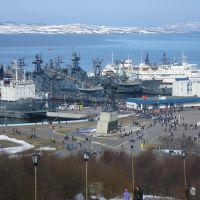 Вид на центральную площадь, Североморск