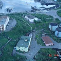 Североморск с трубы ТЭЦ. Час ночи, Североморск