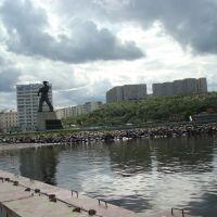 """Североморск   и  """"Алёша """" с причала, Североморск"""