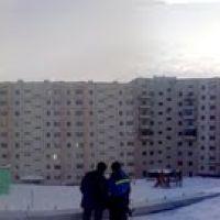панорама во дворе, Снежногорск
