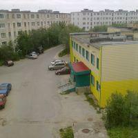 Вид из окна 4-го этажа дома 10 по ул. П. Стеблина. Июнь 2011-го, Снежногорск