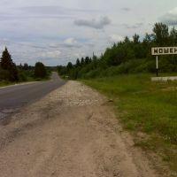 Въезд в Мошенское, Мошенское