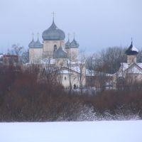 Великий Новгород. Вид на Зверин монастырь, Новгород