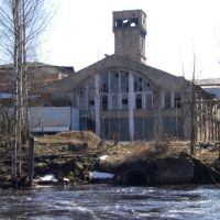 Вид на Окуловский ЦБК, Окуловка