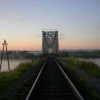 жд. мост через реку Ловать, Парфино