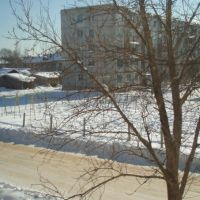 Вид из окна на ул.Строителей, Парфино