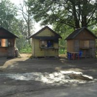 Чайные домики на трассе Москва-Питер. Teahouses on the Moscow-Piter, Хвойное