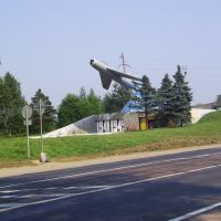 Памятник авиаторам в годы ВОВ / Monument aviators in WWII, Хвойное