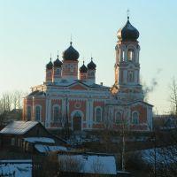 Troitckaya charch in Krestcy. Церковь Святой Троицы в Крестцах, Хвойное