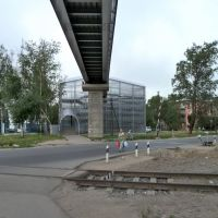 Пешеходный мост у вокзала, Чудово