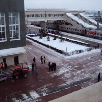 Вокзал.Эстафета Олимпийского огня 2014, Барабинск