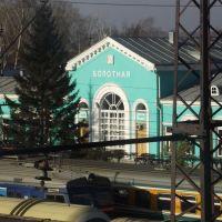 Станция Болотная №4 - Вид с переходного моста, Болотное