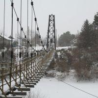Подвесной пешеходный мост, Венгерово