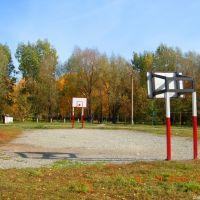 Индустриальный осенью: стадион школы №3, Искитим