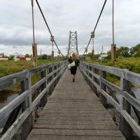 пеший мост через реку Каргат, Каргат