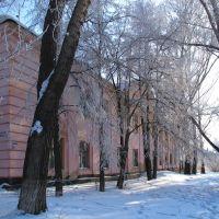 Новосибирская обл., Колывань. Ул. Советская и Маркса встречаются здесь, Колывань