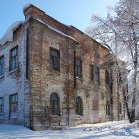 Новосибирская обл., Колывань. Старое здание на ул. Маркса между Советской и Московской, Колывань