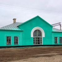 Станция Панкрушиха, вид с привокзальной площадки, Михайловский