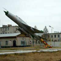 Самолет у военной части, Михайловский