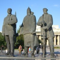 Statues of the people, Новосибирск