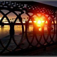 Sunset + Fense  Закат + решётка, Новосибирск