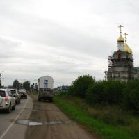 Ordynskoe. Church under construction. Aug 2013, Ордынское