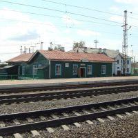 Транссиб, вокзал на станции Убинская, Убинское