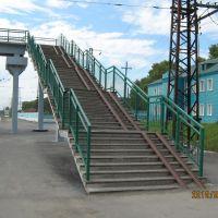 Пешеходный мост на станции, Черепаново