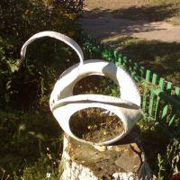 местное творчество лебедь из старого колеса, Чистоозерное