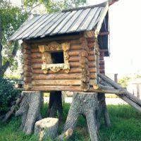 Большеречье. Старина Сибирская. Olden time Siberian.  Log hut of the woman Yoga, Большеречье