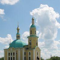 The church in Isilkul (Церковь в центре Исилькуля), Исилькуль