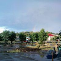 На пощади ДК, после дождя, Крутинка