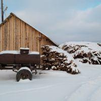 Седельниково, склад с дровами, Седельниково