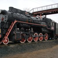 Вечная стоянка паровоза Л9077 на ЖД вокзале, Абдулино