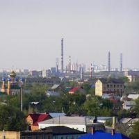 """Вид на ПО """"Стрела"""" и Степной поселок с колеса обозрения., Оренбург"""