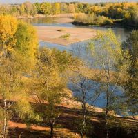 Река Урал у Оренбурга., Оренбург