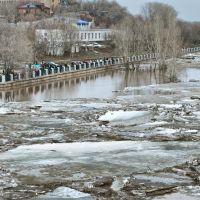 Ледовый затор на Урале., Оренбург