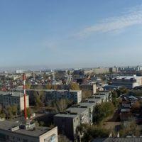 Вид со здания баблиотеки в сторону ул. Чкалова, Туркестанская и т. д., Оренбург