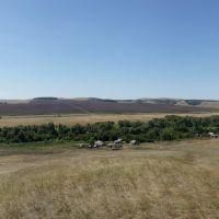 Вид с холма на село Пустошь-Адамовка (Эра), Переволоцкий