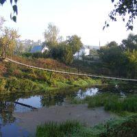 Навесной мост через реку Нугрь, Болхов