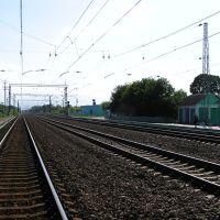 На путях возле вокзала (On the tracks near the station), Глазуновка