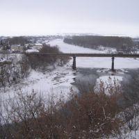 Мост через р. Сосна, вид со смотровой площадки, Ливны