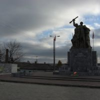 памятник в центре города, Ливны