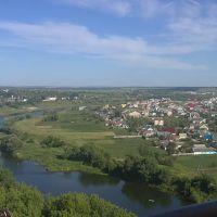 Вот такой красивый вид на речку Сосна с колеса обозрения в Ливнах..., Ливны
