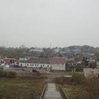 Вид на рыночную площадь п.Покровское, Покровское