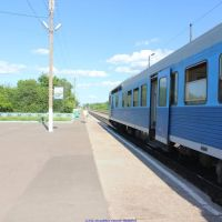 Ж.д.платформа с мотриссой Орёл-Брянск, п.г.т. Хотынец (07.06.2011), Хотынец