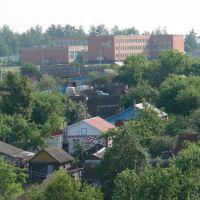 Школа № 2 с крыши больницы, Башмаково