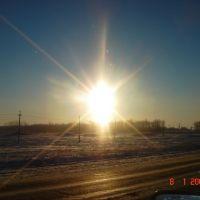солнце и радуга - редкое природное явление, Колышлей