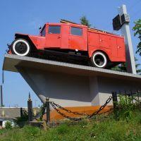 Памятник пожарному автомобилю, Нижний Ломов